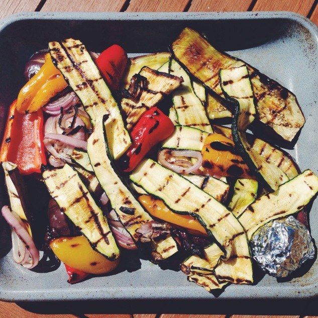 Grilled vegetables for sammies
